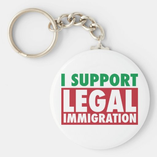 I Support Legal Immigration Basic Round Button Keychain