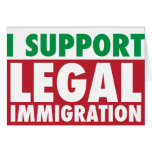 I Support Legal Immigration Cards