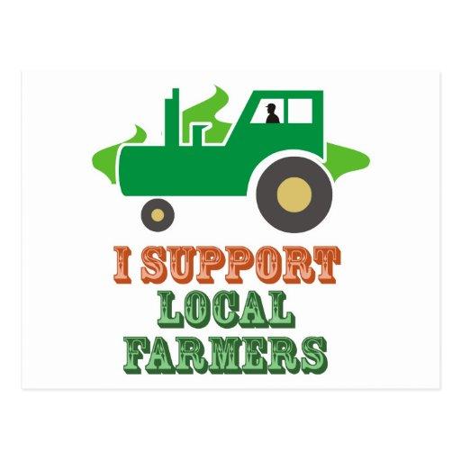 I Support Local Farmers Postcard