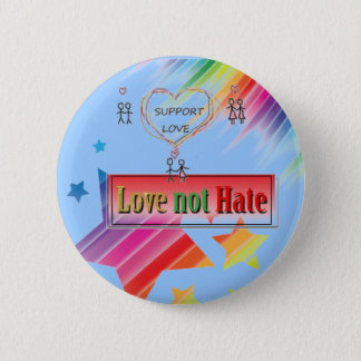 i support love2 pinback button