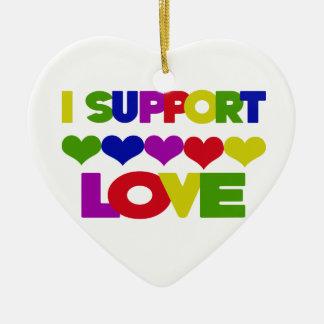 I support Love Ceramic Ornament