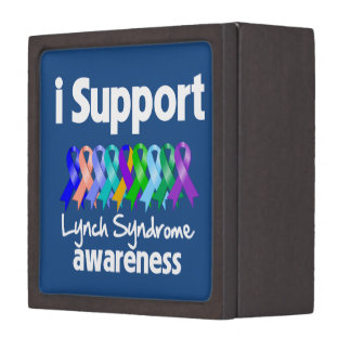 I Support Lynch Syndrome Awareness Premium Jewelry Box