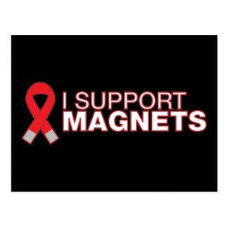 I support magnets postcard