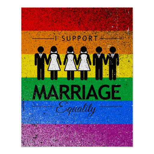 I SUPPORT MARRIAGE EQUALITY FOR ALL -.png Poster