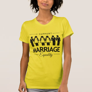 I SUPPORT MARRIAGE EQUALITY FOR ALL -.png T Shirts