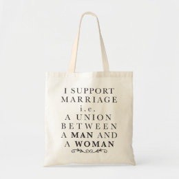 I support marriage tote bag