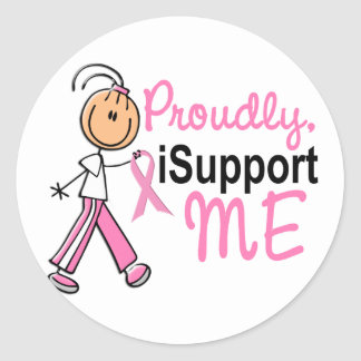 I Support Me SFT Breast Cancer T-Shirts & Gifts Round Stickers