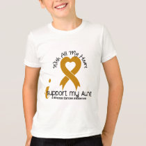 I Support My Aunt Appendix Cancer T-Shirt