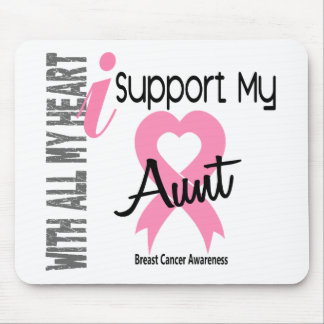 I Support My Aunt Breast Cancer Mouse Pad