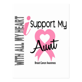 I Support My Aunt Breast Cancer Postcard