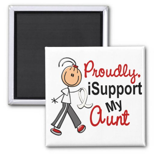 I Support My Aunt SFT (Bone / Lung Cancer) 2 Inch Square Magnet