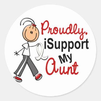 I Support My Aunt SFT (Bone / Lung Cancer) Round Sticker