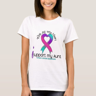 I Support My Aunt Thyroid Cancer T-Shirt