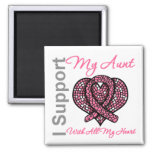 I Support My Aunt With All My Heart Breast Cancer Magnet