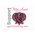 I Support My Aunt With All My Heart Breast Cancer Postcard