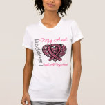 I Support My Aunt With All My Heart Breast Cancer Tee Shirts