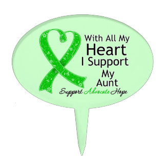 I Support My Aunt With All My Heart Oval Cake Pick