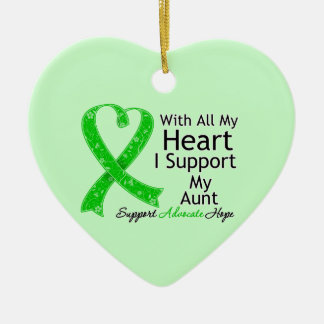 I Support My Aunt With All My Heart Christmas Ornaments