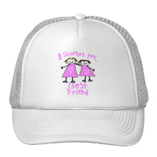 i support my best friend breast cancer hat