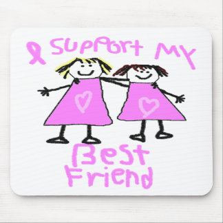i support my best friend breast cancer mouse pad