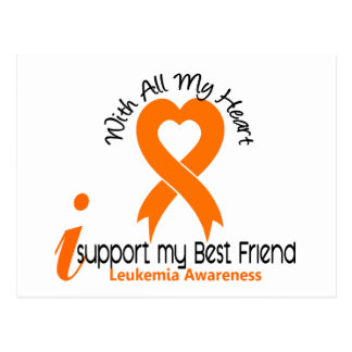 I Support My Best Friend Leukemia Postcard