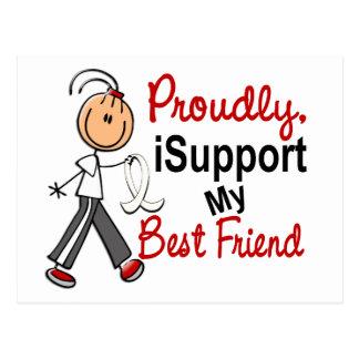 I Support My Best Friend SFT (Bone / Lung Cancer) Postcard