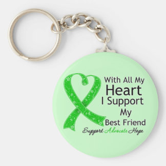 I Support My Best Friend With All My Heart Basic Round Button Keychain