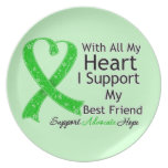 I Support My Best Friend With All My Heart Plates