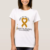 I Support My Boyfriend Appendix Cancer T-Shirt