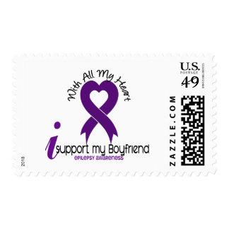 I Support My Boyfriend Epilepsy Postage Stamp