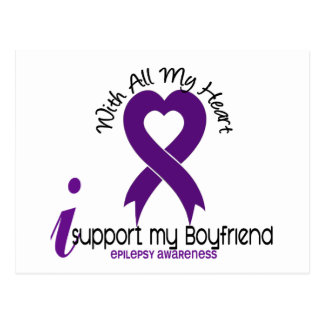 I Support My Boyfriend Epilepsy Postcard