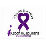 I Support My Boyfriend Epilepsy Postcards