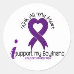 I Support My Boyfriend Epilepsy Stickers