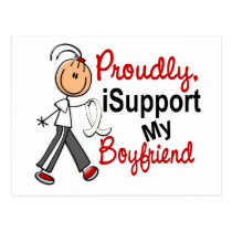 I Support My Boyfriend SFT (Bone / Lung Cancer) Postcard