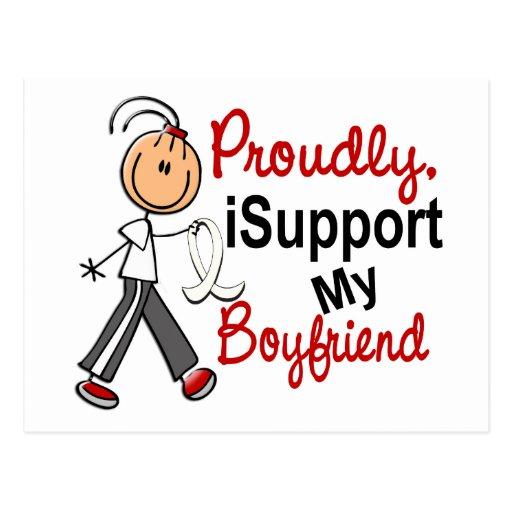 I Support My Boyfriend SFT (Bone / Lung Cancer) Postcard