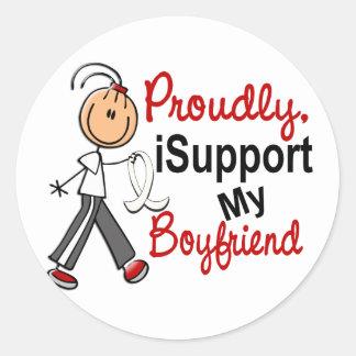 I Support My Boyfriend SFT (Bone / Lung Cancer) Sticker