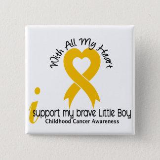 I Support My Brave Little Boy Childhood Cancer Button