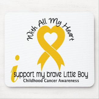 I Support My Brave Little Boy Childhood Cancer Mouse Pad