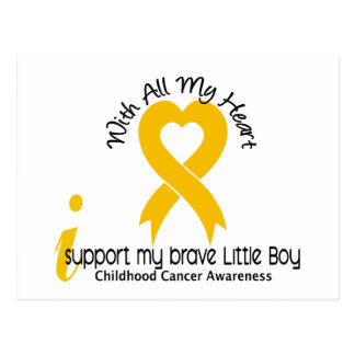 I Support My Brave Little Boy Childhood Cancer Postcard