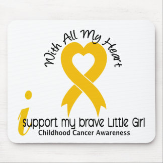I Support My Brave Little Girl Childhood Cancer Mouse Pad