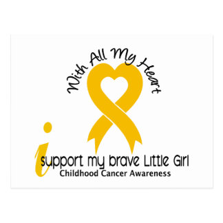 I Support My Brave Little Girl Childhood Cancer Postcard