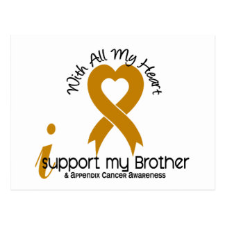 I Support My Brother Appendix Cancer Postcard