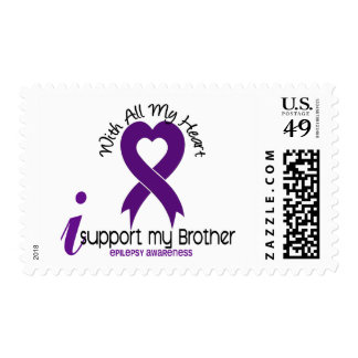 I Support My Brother Epilepsy Postage Stamp