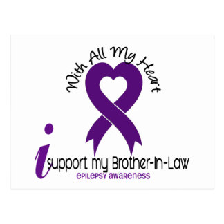 I Support My Brother-In-Law Epilepsy Postcard