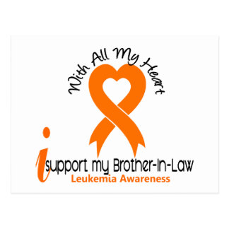 I Support My Brother-In-Law Leukemia Postcard