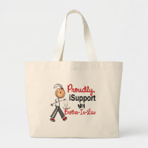 I Support My Brother-In-Law SFT Bone / Lung Cancer Large Tote Bag