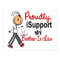 I Support My Brother-In-Law SFT Bone / Lung Cancer Postcard