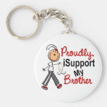 I Support My Brother SFT (Bone / Lung Cancer) Basic Round Button Keychain