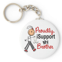 I Support My Brother SFT (Bone / Lung Cancer) Keychain