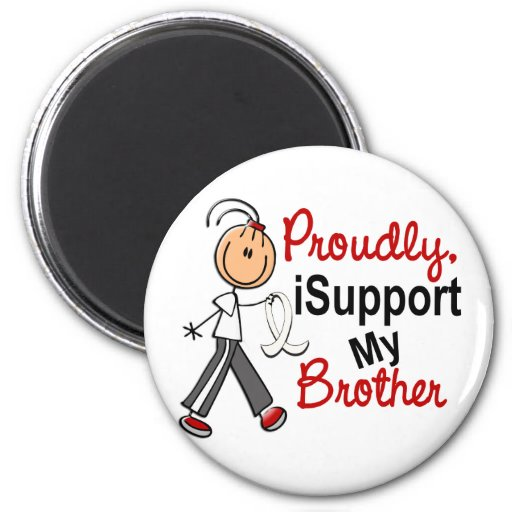 I Support My Brother SFT (Bone / Lung Cancer) Magnet